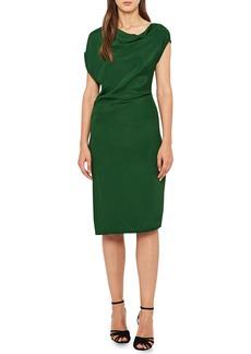 Reiss Lore Asymmetrical Cap Sleeve Dress