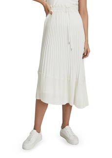 Reiss Lottie Pleated Chiffon Midi Skirt