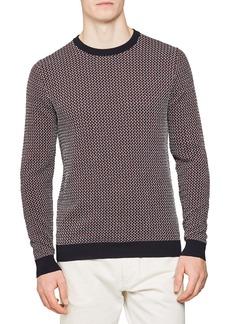 Reiss Luxton Slim Fit Dogtooth Crewneck Sweater