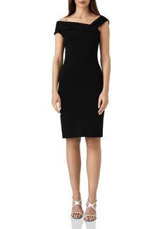 REISS Lyn Asymmetric Off-the-Shoulder Dress