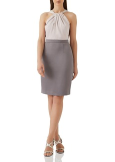 REISS Maisie Two-Tone Dress