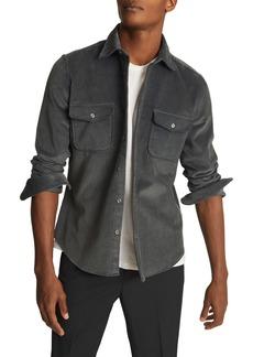 Reiss Maldini Slim Fit Cotton Corduroy Button Up Shirt