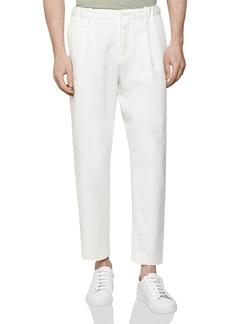 REISS Maple Drawstring-Waist Cropped Pants