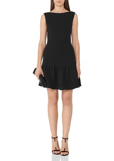 REISS Marisa Pin-Tucked A-Line Dress