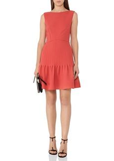 REISS Marisa Pin-Tucked A-Line Dress
