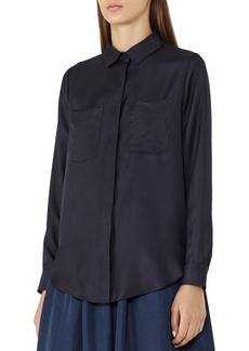 REISS Meera Silk Pocket Shirt