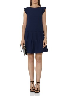 REISS Melanie Pin-Tuck Pleated-Skirt Dress