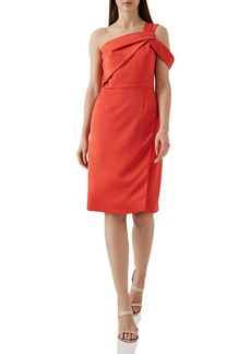 REISS Melissa Twist One-Shoulder Dress