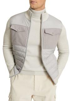 REISS Miller Hybrid Zip-Up Jacket