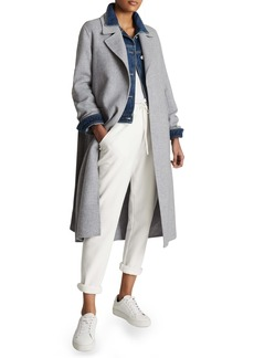 Reiss Millie Wool Blend Wrap Coat