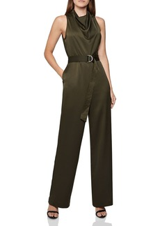 REISS Milo Sleeveless Belted Jumpsuit