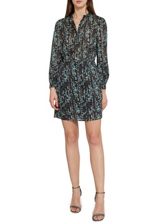Reiss Miriam Metallic Stripe Dress