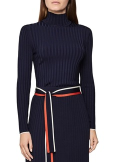 REISS Morgan Ribbed Mock Neck Sweater
