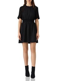 REISS Myla Smocked-Waist Dress
