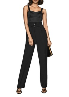 REISS Natalia Structured-Bodice Jumpsuit