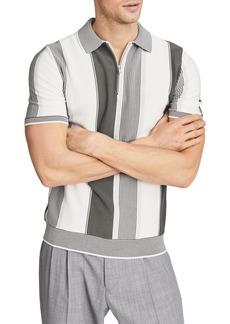 Reiss Nicky Stripe Cotton & Modal Polo Shirt