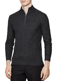 REISS Noel Half-Zip Sweater