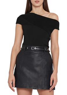 Reiss One-Shoulder Bardot Top