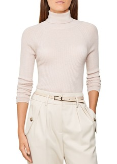 REISS Opal Ribbed Knit Top