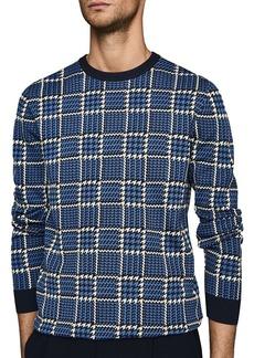 REISS Palmer Jacquard Check Sweater