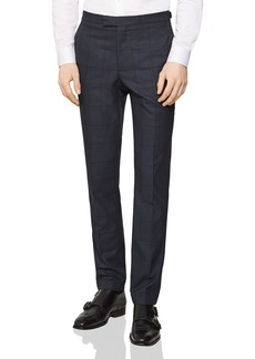 REISS Parker Checked Slim Fit Trousers