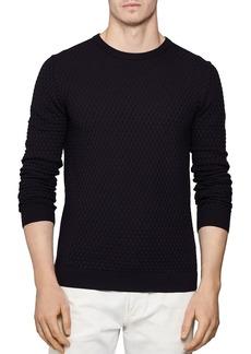REISS Randolf Stitch Interest Sweater