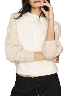 REISS Robyn Contrast-Sleeve Sweater