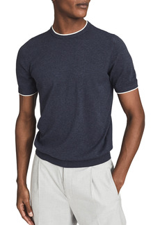 Reiss Romer Slim Fit Solid Cotton T-Shirt