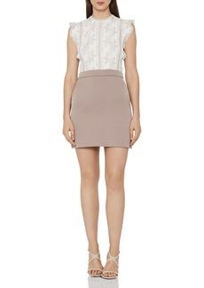 REISS Sally Lace-Detail Dress