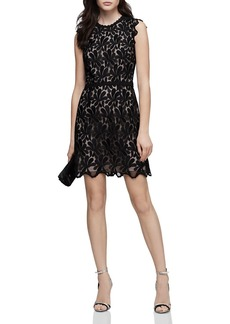 REISS Sami Open-Back Lace Dress