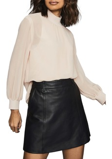 Reiss Sandrine Mock Neck Blouse