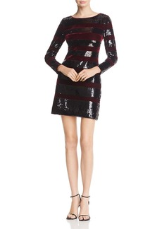 REISS Selene Velvet-Striped Sequined Dress - 100% Exclusive