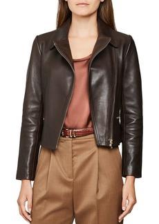 REISS Shae Leather Biker Jacket