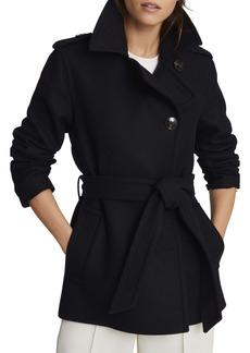 Reiss Sia Belted Wool Blend Coat