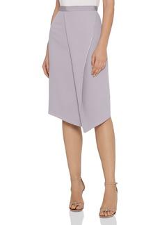 REISS Sidney Satin-Trimmed Skirt