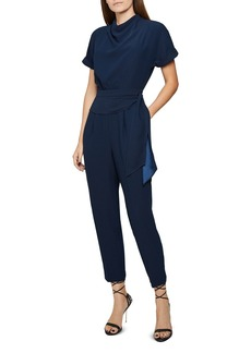 REISS Silva Draped Belted Jumpsuit