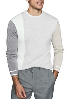 Reiss Simmy Regular Fit Crewneck Colorblock Sweater