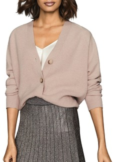 REISS Simone Wool & Cashmere Cropped Cardigan