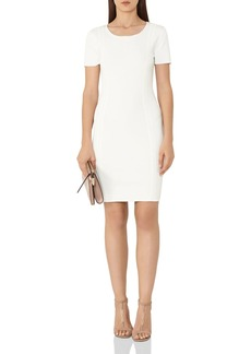 REISS Skyler Embroidery-Detail Dress
