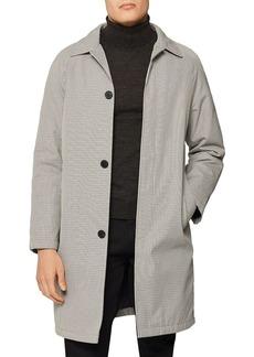 REISS Takasada Table-Checked Wadded Mac Coat