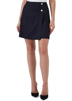 Reiss Tally Button Wool Blend Mini Skirt