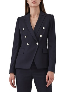 Reiss Tally Double Breasted Wool Blend Jacket