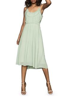 Reiss Thora Pleated Midi Dress