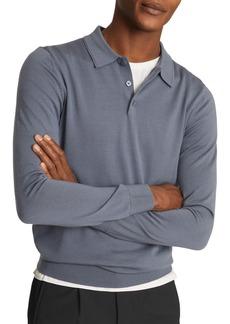 Reiss Trafford Slim Fit Long Sleeve Wool Polo