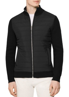 REISS Trainer Quilted-Front Jacket