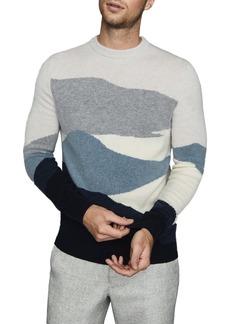 Reiss Turner Colorblock Crewneck Sweater