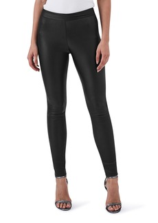 Reiss Valerie Mix Media Leather Leggings