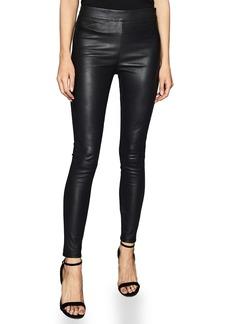 Reiss Valerie Mix Media Leather Pull-On Pants