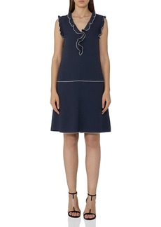 REISS Vivienne Ruffle-Detail Shirt Dress