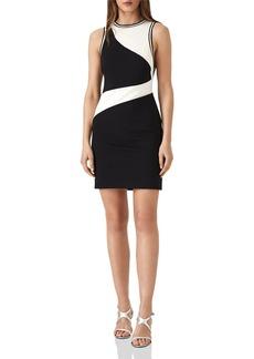 REISS Willa Color-Block Mini Dress